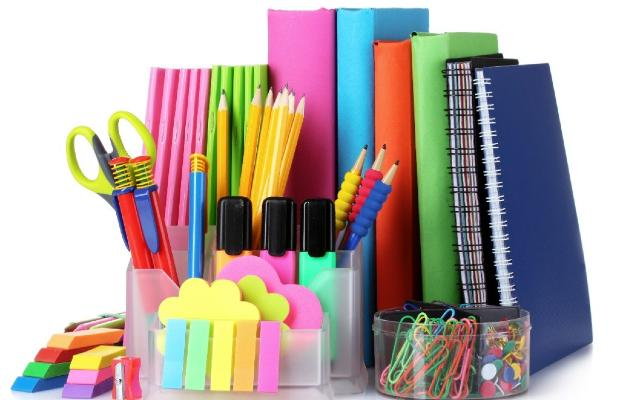 colourful stationery
