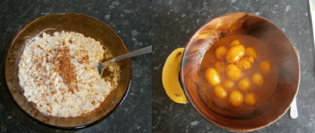 two meals cooked by a student