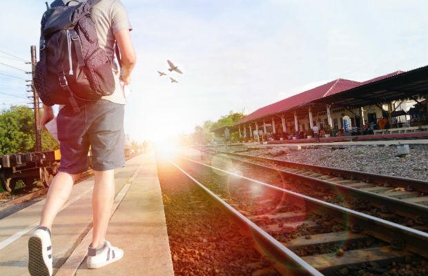 Guy leaving home