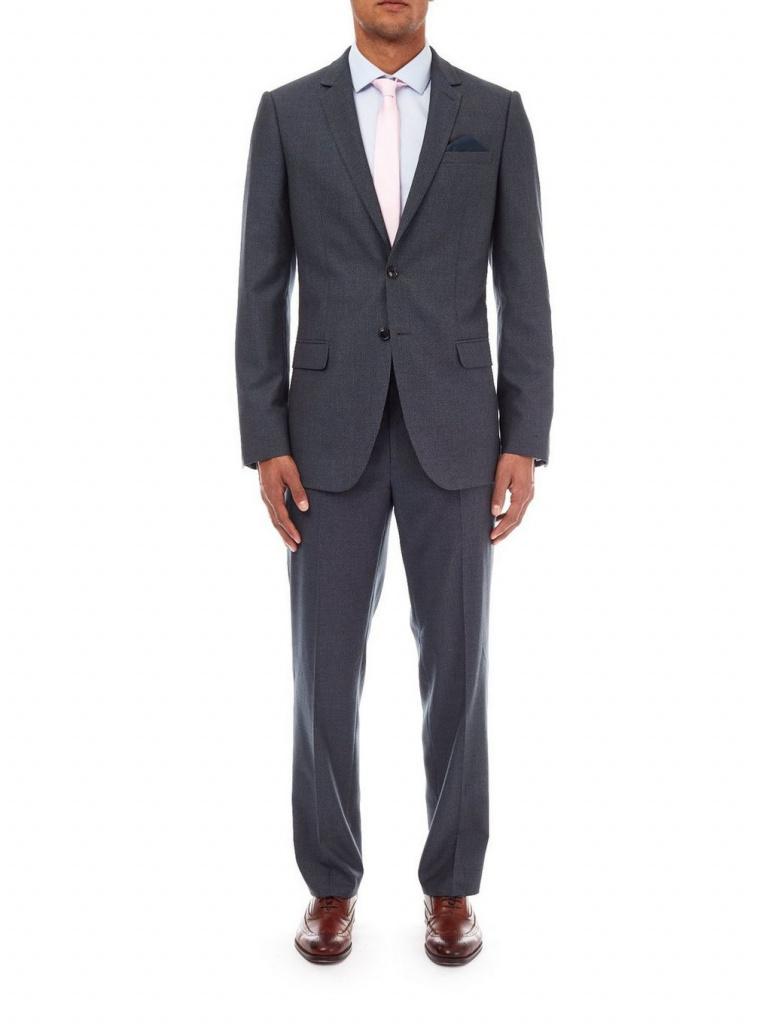 Burton grey blue suit