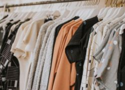 Rack of clothes in a shop