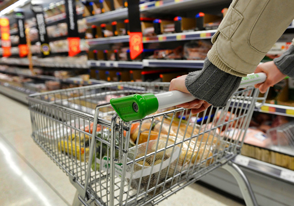 Student shopping in the supermarket