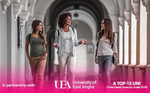 Mobile students walking through university