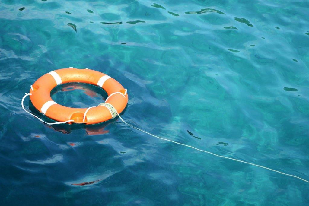 Buoyancy aid on the ocean