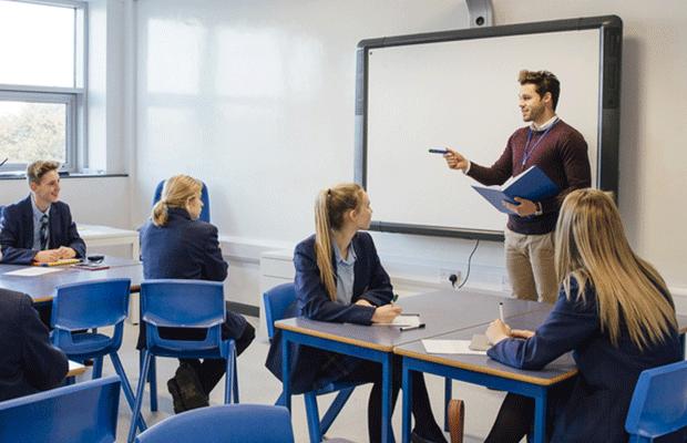 a teacher in classroom