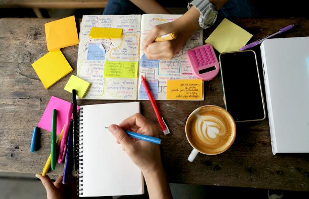 notes covered in post-its