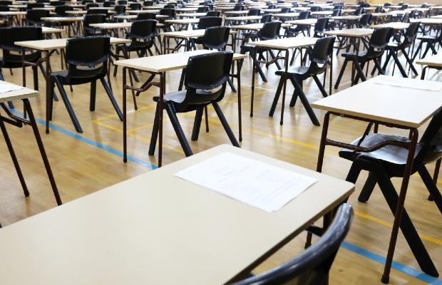 empty exam hall