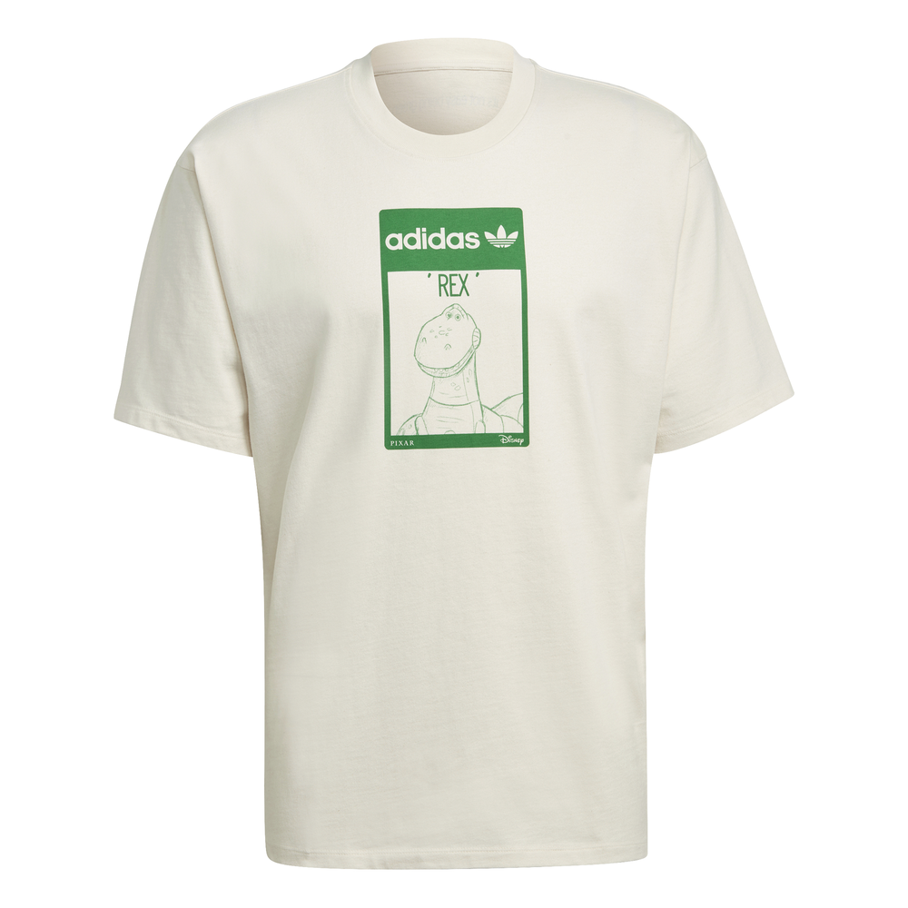 adidas Originals x Disney unisex t-shirt with Rex from Toy Story print in off white
