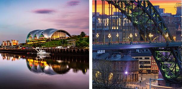 Night shots of Newcastle