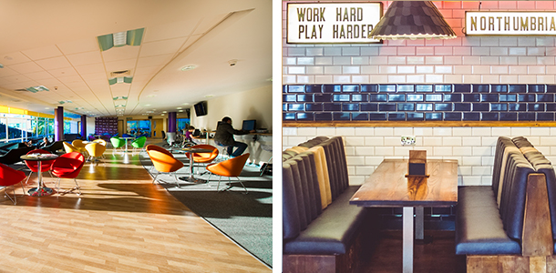 Social spaces at the students union