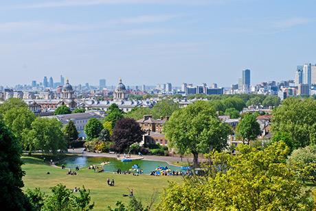 Landscape view of London