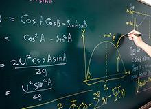 Maths equation on board