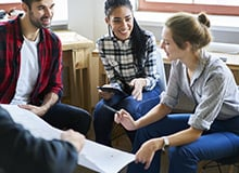students in conversation