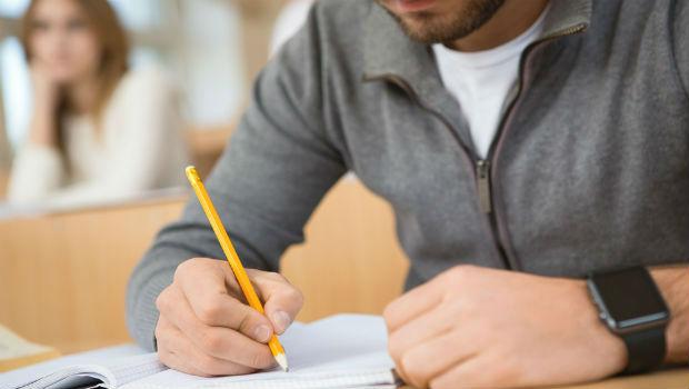 Man doing exam