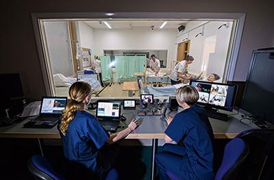 Nursing students observing