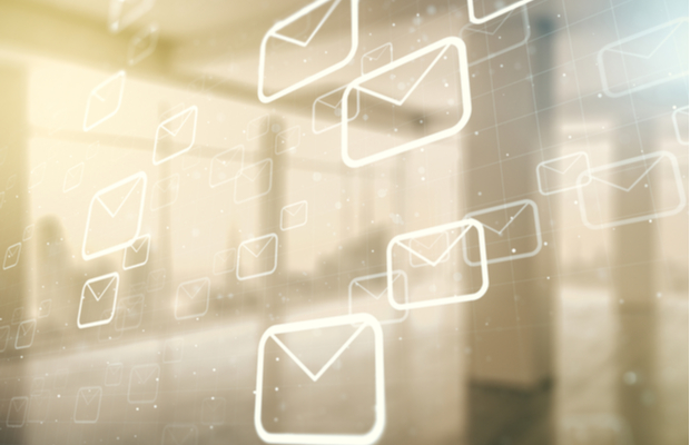abstract image of envelopes