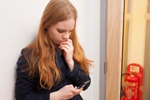 On phone deciding