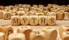 Myths written on wooden blocks