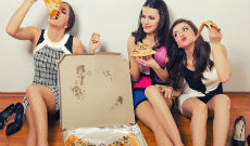 Girls pizza party