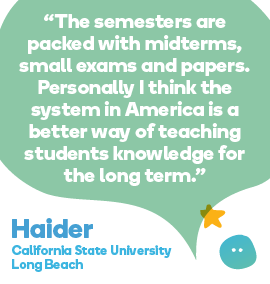 Haider quote - studying in the USA